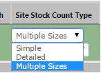 Fig 4 - Stock Count Type Drop-down List