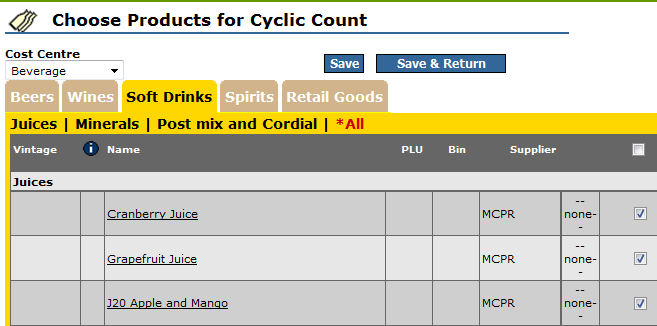 Fig 4 - Products That Are Included in The Cyclic Stock Count