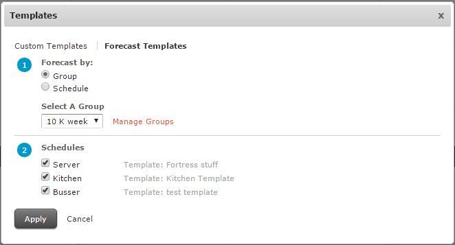 server schedule template