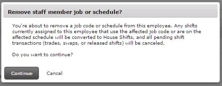 hs how to remove employee from a schedule customer care