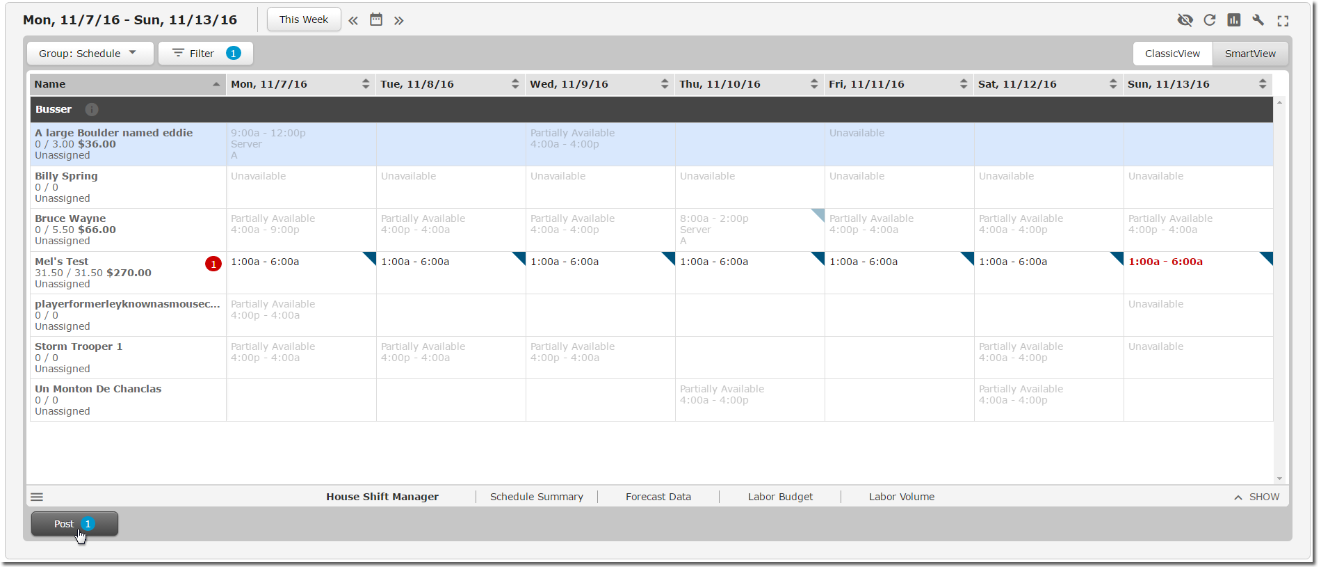 how to make a schedule for employees