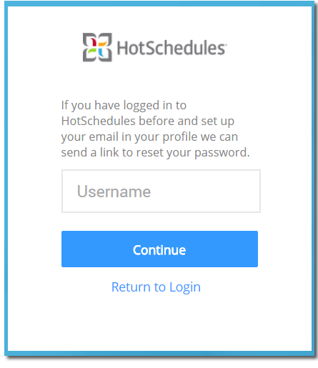HS - Retrieve Login Information With Email Address (Login Issue
